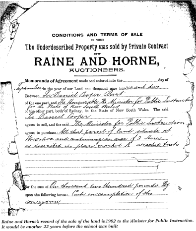 Raine and Horne deed
